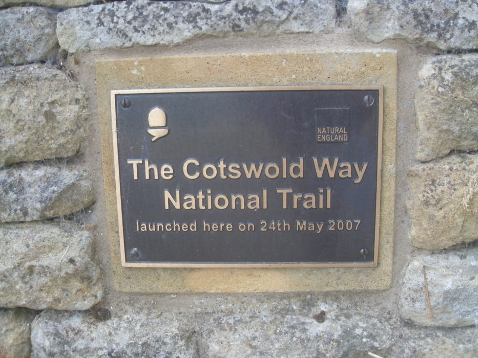 Cotswold Way National Trail marker stone