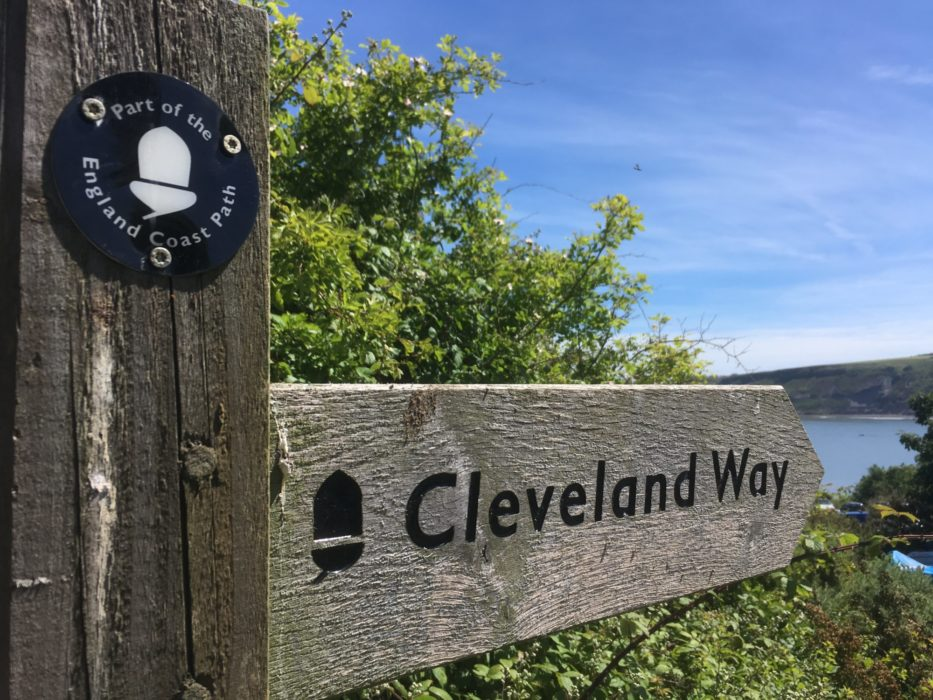 Cleveland Way & English Coast Path National Trail signpost