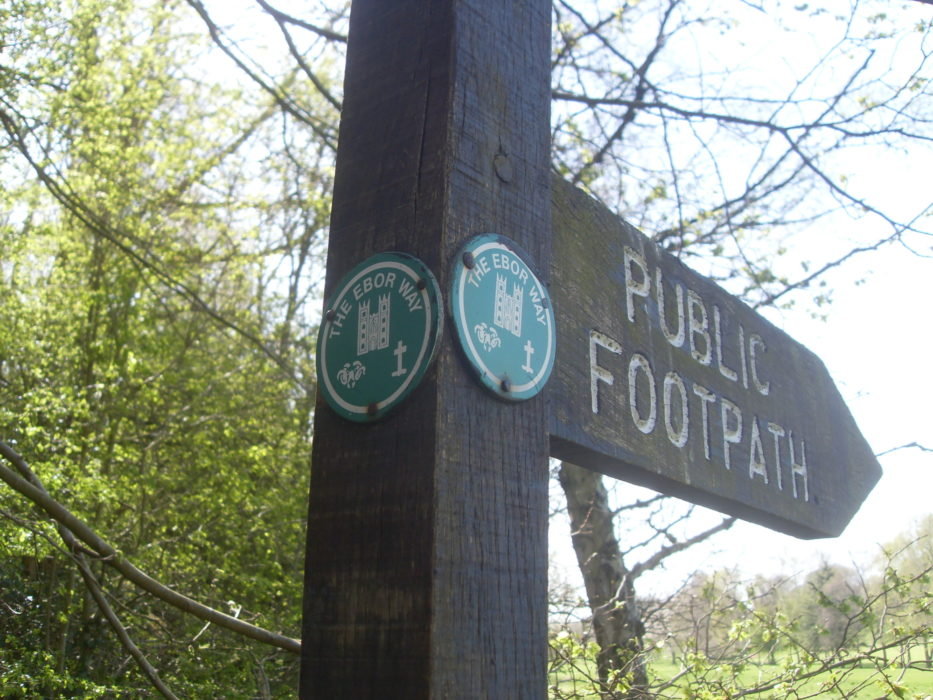 Ebor Way signpost, Yorkshire