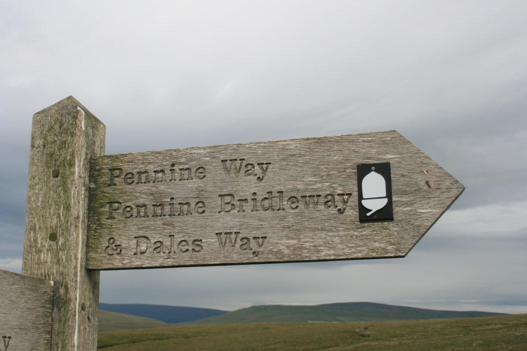 Pennine Way & Dales Way signpost