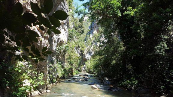 The Aterno river in the Gole di San Venanzia Nature Reserve
