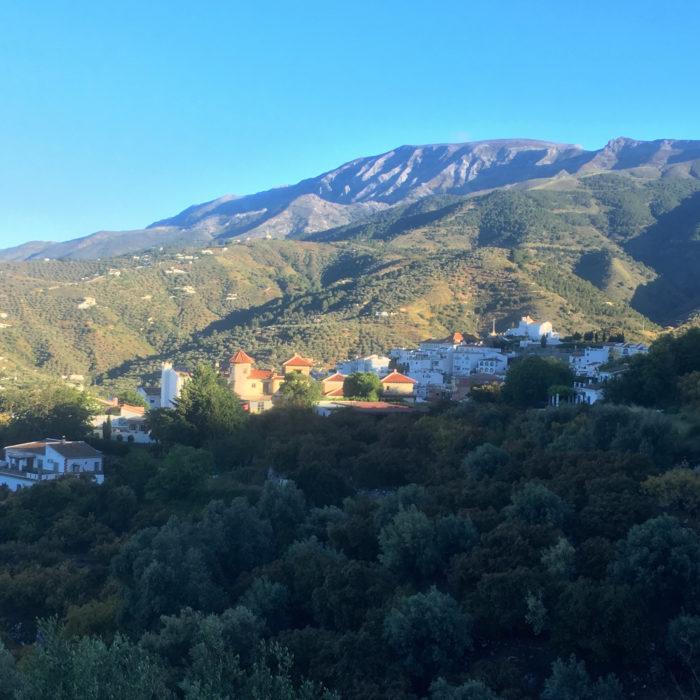 2,000m Maroma rising above Canillas de Albaida