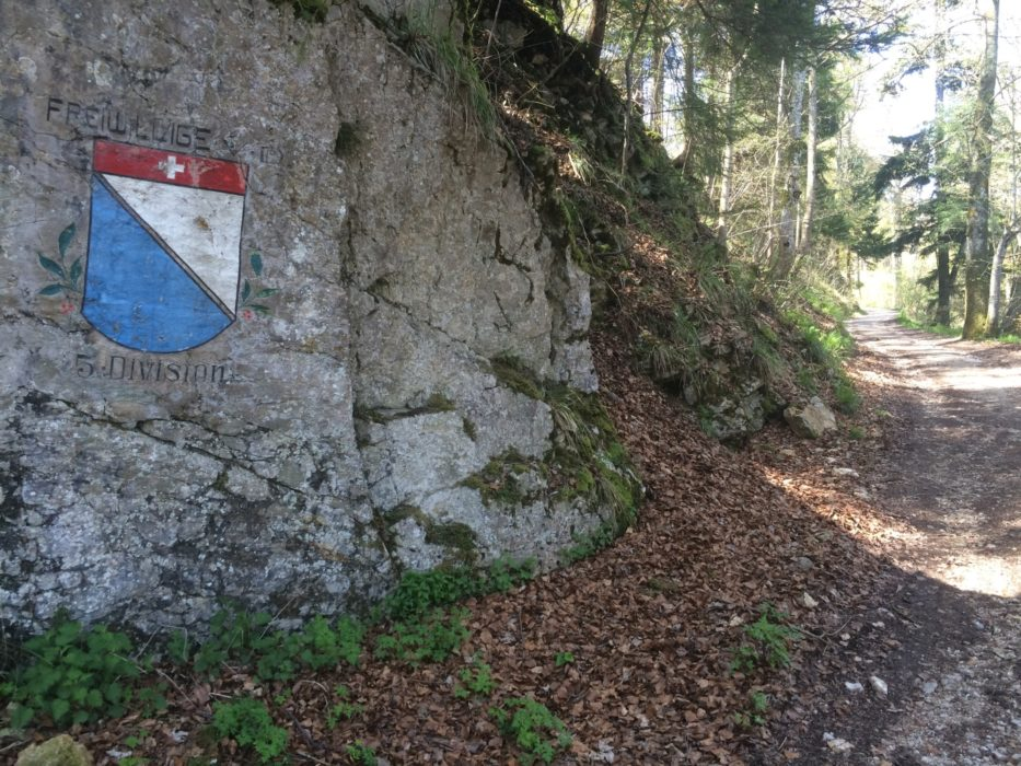 007 Military insignia and coats of arms seen on the mountain road south of the Belchenflue
