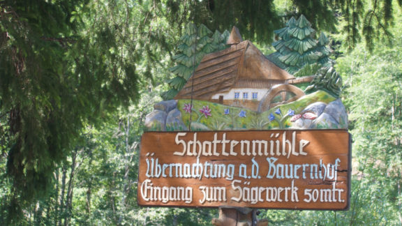 005 Schattenmühle is a guesthouse right in the gorge, at the end of day 2.