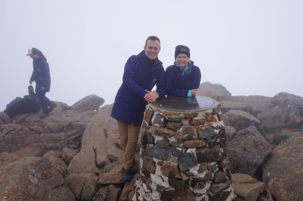 A soggy summit on Cradle Mountain