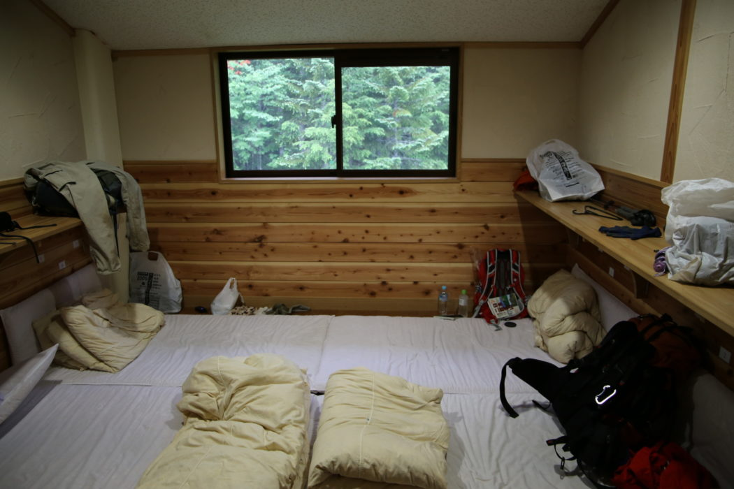 Kitadake4 Cozy accommodation on futon bedding, a standard for Japan's mountain huts