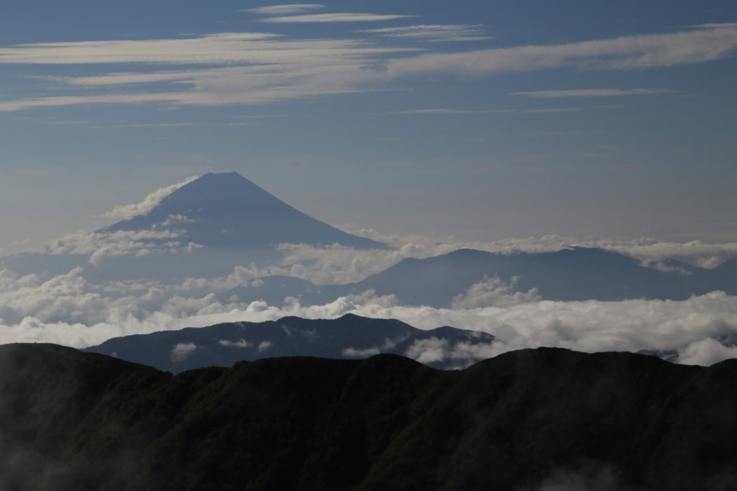Kitadake10 Mt Fuji's iconic cone rises above a sea of cloud