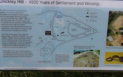Crickley Hill information board 1