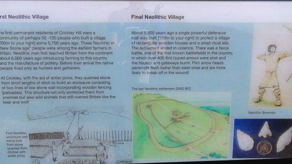 Crickley Hill information board 3