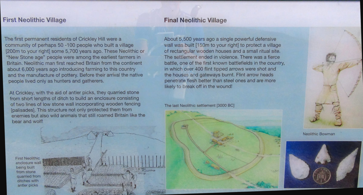 Crickley Hill information board 3