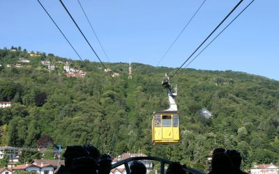 Pic18 From Stresa A Cable Car Zooms Up To The Top Of Monte Mottarone