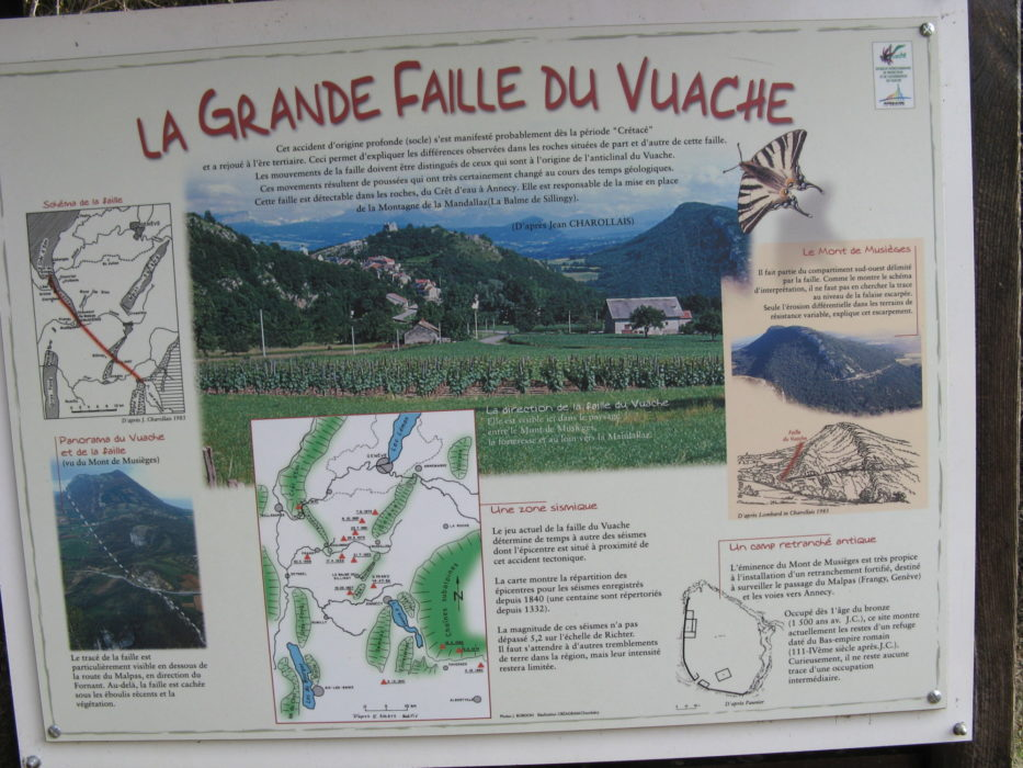 Information board 'La Grande Faille du Vuache'