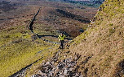 The steep final ascent up Pen-y-ghent (photo: Alice Ellwood)