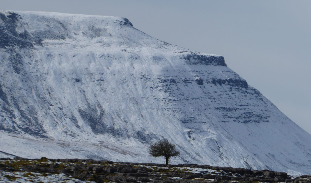 Ingleborough snow