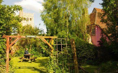 The pub garden in Great Tey