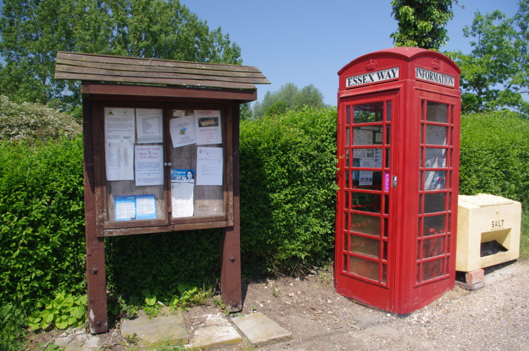 The hamlet of Fuller Street is home to this Essex Way information point