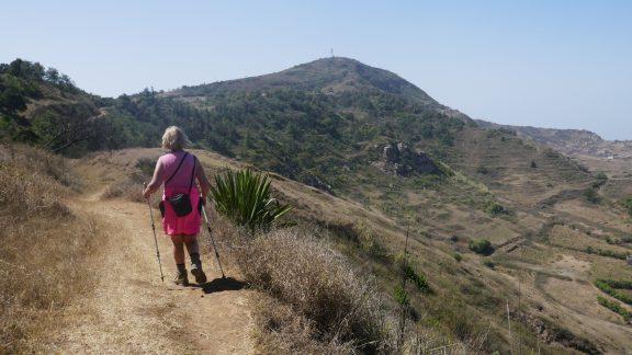 3-11 Walking towards Fontainhas summit on Brava island