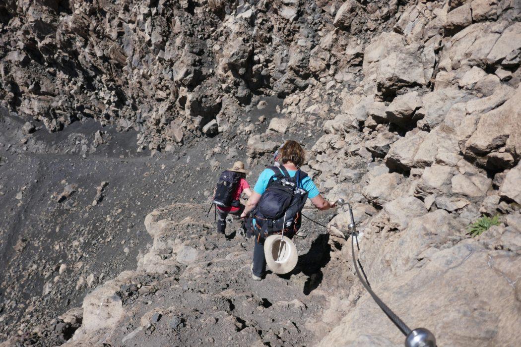 2-05 Desending into the caldera of Pico de Fogo volcano