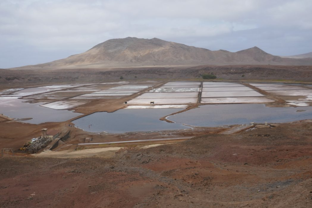 1-02 The salt pans on Sal island, inside an extinct caldera