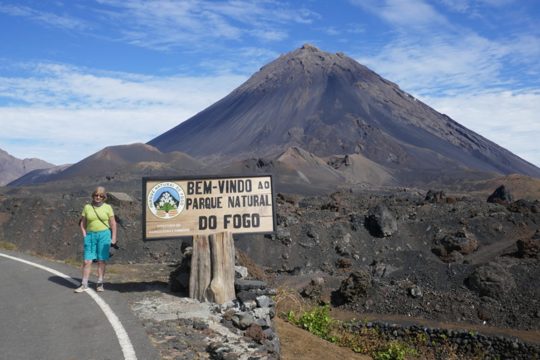 First sight of Pico de Fogo volcano