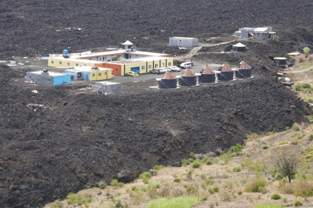 Casa Marisa Hotel has been built on the lava flow from the 2014 Eruption