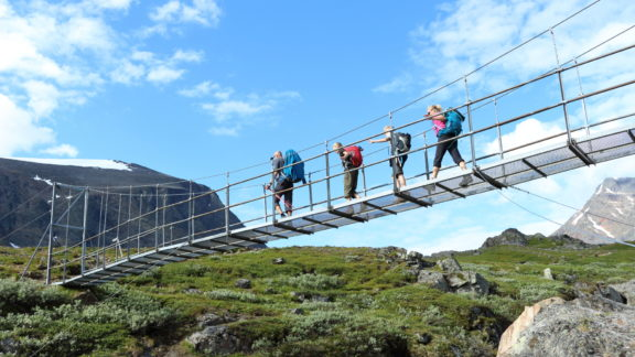 6 Typical suspension bridge found on the trail, this one being close to Kebnekaise.