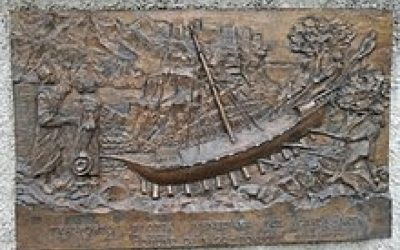 The Plaque At Torbole Commemorating The Transport Of Boats