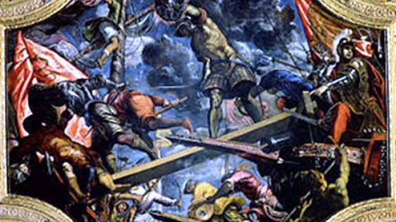 Tintorettos Magnificent Canvas Of The Venetian Victory At Riva Del Garda