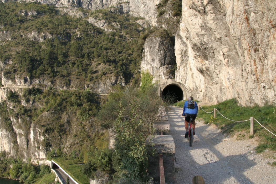 The Old Strada Del Ponale From Riva Del Garda Can Be Enjoyed By Cyclists And Walkers These Days  It Is High Above The New Road