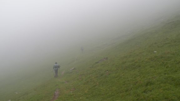 Misty conditions in the Basque Country