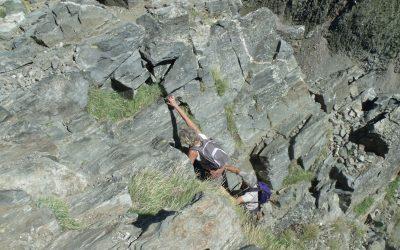 Scramble up to summit of Canigou