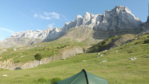 Camp below Sierra d'Alano