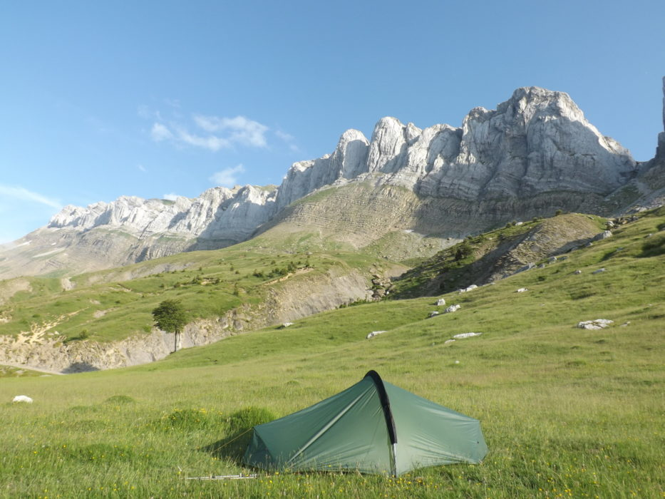 Camp below Sierra d'Alano