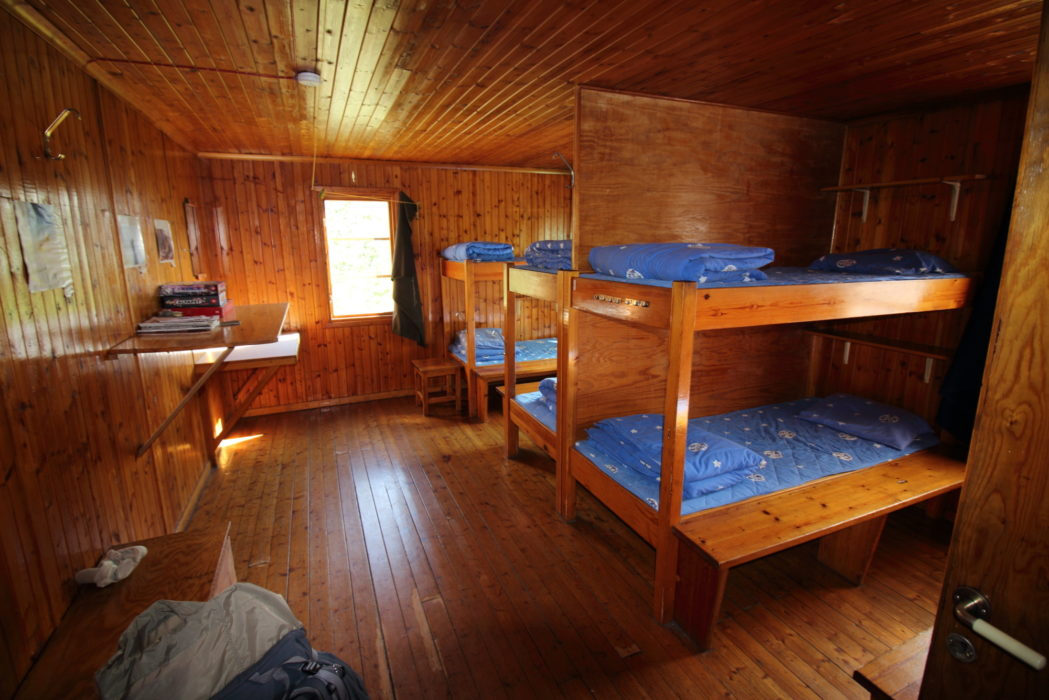 Typical fjällstuga bunk room