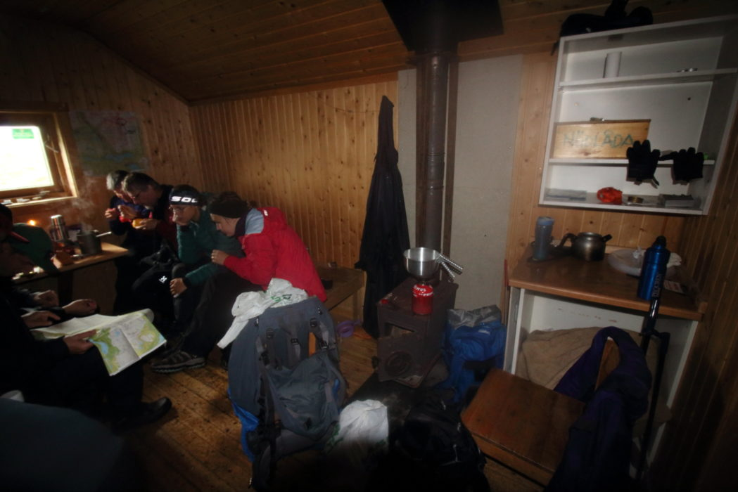 Sheltering in the emergency shelter at Syterskalet