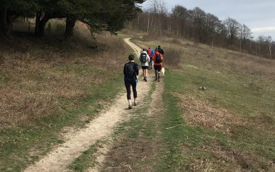 Undulating trails on the North downs Way (photo credit: Rob Close)
