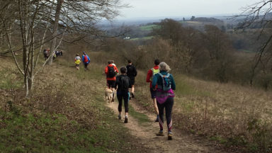 Extensive views over the Surrey Hills AONB (photo credit: Rob Close)