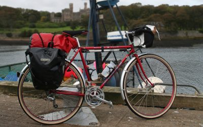 A cheap option for extra capacity is to attach a dry bag to the rack with elastics (Image by Richard Barrett)