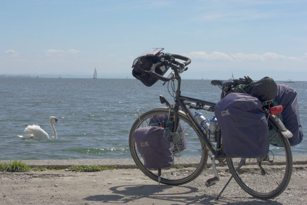 A fully laden set of panniers (Image courtesy of Kitty Terwolbeck on Flickr)