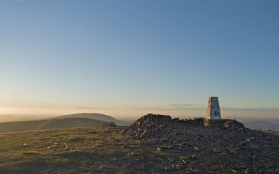Merrick trig point, sunset 10