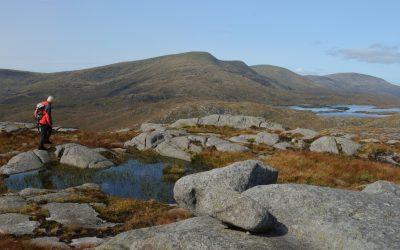 On Craignaw summit looking back to Merrick 18
