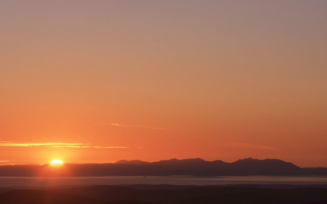 Sun sets behind the Isle of Arran 12