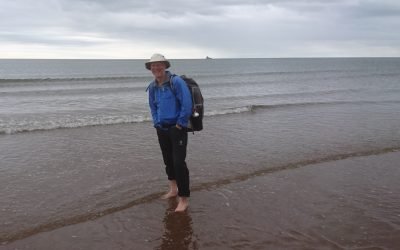 Feet in the sea at St Cyrus