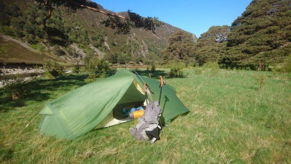 The woodlands in upper Glen Feshie make a fine spot for a wild camp