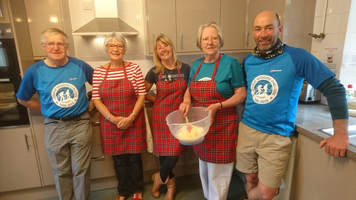 Alvar, Patricia, Marion, Ann and Graeme – Challengers all, and hosts at Tarfside this year