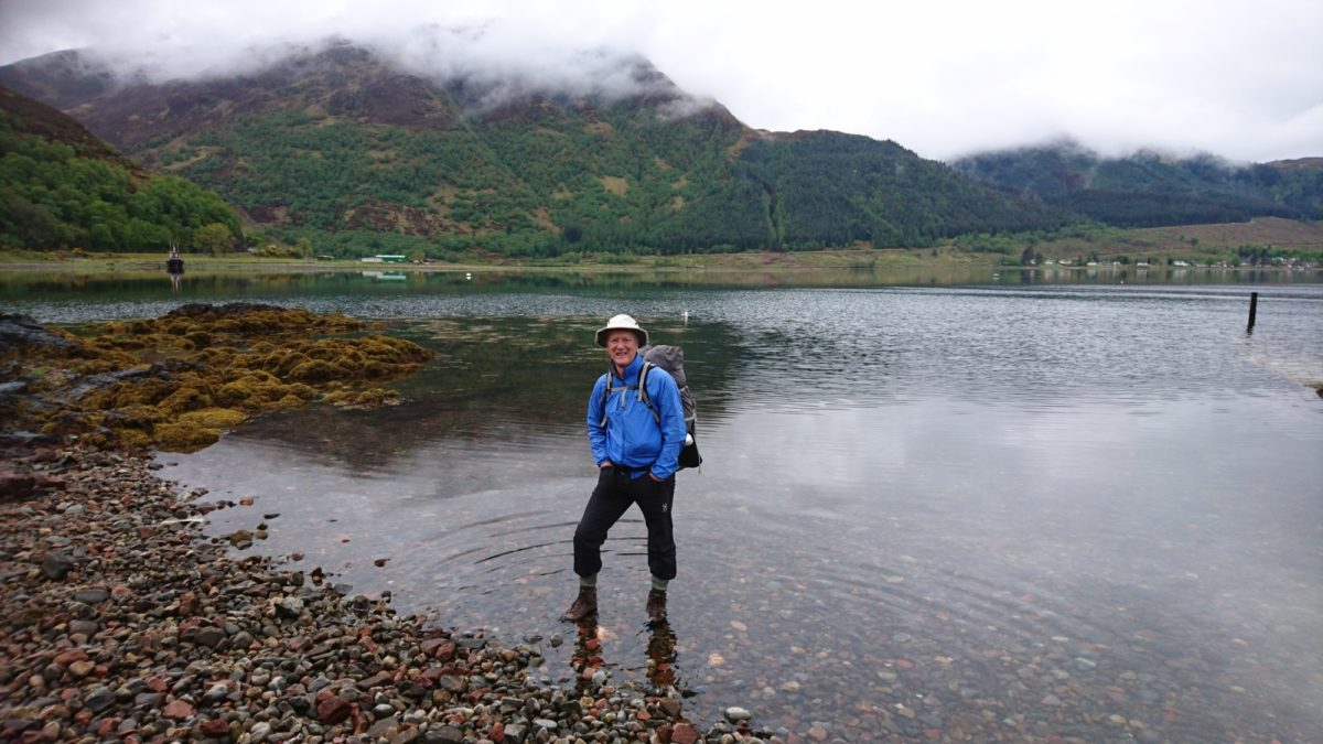 Boots in the sea at the Kintail Lodge Hotel
