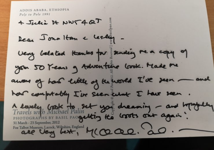 A postcard from Michael Palin