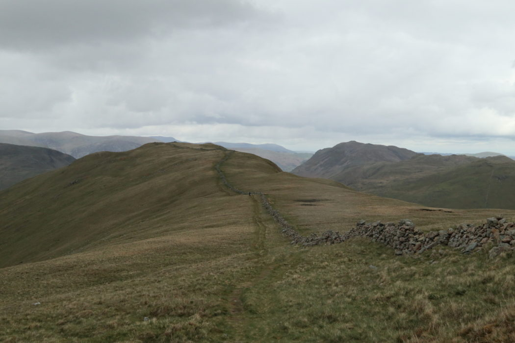 Walking along the ridge near Hartsop
