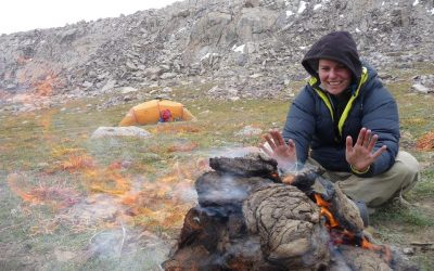 Yak dung is the only fuel available at this altitude