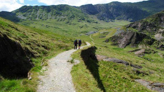 Wandering Round Cwm Plan With Snowdon Rising Up Ahead